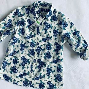 Lands' End casual flower shirt new w/tags